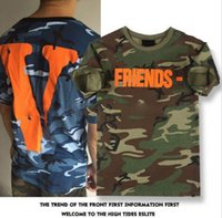 Wholesale Mens Camouflage Shirt Xl - Designer T Shirt Mes T Shirt Summer Mens Shirts new fashion brand Casual Camouflage Letter Print Outdoor Streetwear Hip Hop