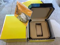 gelbe lederuhren großhandel-2018 Neue Heiße Top Luxus Uhr Marke gelb Original Box Papers Geschenk Uhren Boxen leder tasche Für Breitling Uhrenbox ro21