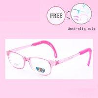 ingrosso ragazze ragazze bicchieri-Silicone sano Bambini Clear Glasses Ragazze Ragazzi Montature per occhiali flessibili Bambini Occhiali Cornici Occhiali da vista 8823-25