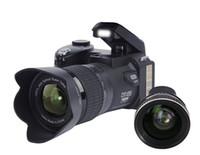 caméras à objectif achat en gros de-PROTAX POLO D7100 Appareil photo numérique 33MP 24X zoom optique Auto Focus professionnel DSLR Caméra vidéo HD1080P amélioré Caméscope + 3 lentilles