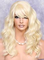 uzun peruk sarışın 613 toptan satış-İnsan Saç Karışımı Long Beach Blonde Dalgalı ISI GÜVENLİ Peruk w. MAR 613'ü vurur