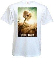 ingrosso puntata bianca-Stake Land v4 T-shirt bianca poster tutte le taglie S ... 3XL New Fashion Men'S manica corta stampata rotonda Uomo Tshirt Prezzo a buon mercato