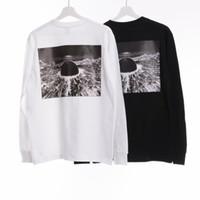 ingrosso uomini camicia manica lunga nera-17FW Akira Neo-Tokyo T-Shirt Bianco Nero Anime Manica Lunga Tee Top Box Logo Marca Camicie Uomo Oversize Skateboard Tees