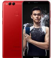 huawei kamera großhandel-Huawei Honor 7X Globale Firmware 32 GB / 64 GB / 128 GB Octa Core Dual Rückfahrkamera 5,93 Zoll Android 7,0 4G LTE Unlocked Handys