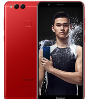 huawei telefonları lte toptan satış-Huawei Onur 7X Küresel Firmware 32 GB / 64 GB / 128 GB Octa Çekirdek Çift Arka Kamera 5.93 inç Android 7.0 4G LTE Unlocked Cep Telefonları