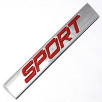 emblemas jetta venda por atacado-Preto Vermelho Esporte Logotipo Quadrado Bar Liga de Zinco Estilo Do Carro Emblema Emblema Auto Remontagem Adesivo 3D Decalque para VW Nova Jetta Bora Lavida