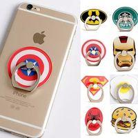 Wholesale phone batman - Universal 360 Degree Super Hero Superman Batman Finger Ring Holder Phone Stand For iPhone 7 6s Samsung Mobile Phones