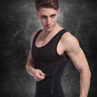 Wholesale Black Thermal Underwear For Men - 2017 Men 'S Sexy Slimming Body Shaper Belly Fatty Thermal Underwear Vest Shirt Corset Compression Best Gift For Men bodybuilding