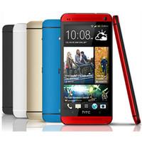 мобильный телефон wifi android оптовых-100% оригинал разблокирован HTC ONE M7 Android смартфон 32 ГБ ROM 4,7 дюйма GPS 3G двойная камера 8MP WIFI четырехъядерный восстановленный мобильный телефон