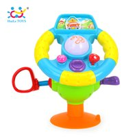 Wholesale baby toy mirrors - HUILE TOYS 916 Baby Toys Driving Steering Wheel & Equipped with Lights, Mirror, Music, Various Driving Sounds for Children