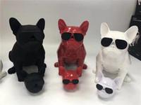 Wholesale mp3 guns - Factory direct Whole body dog Bluetooth 4.1 Lanyard Bulldog Bluetooth wireless speaker HIFI subwoofer wireless low sound gun