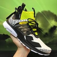 finest selection cbc61 ac0e7 2019 Autentico ACRONYM x Air Presto Lab Mid Cool Grigio Uomo Donna Scarpe  da corsa Sport maschili Sneakers Camouflage Graffiti Stivali