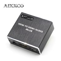 Wholesale hdmi optical online - AIXXCO HDMI Audio extractor HDMI to with Optical TOSLINK SPDIF mm Stereo Audio Extractor Converter Splitter
