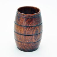 ingrosso bicchieri di vino novità-Bicchieri di vino della tazza della birra di Dringking di legno a forma di barilotto della novità