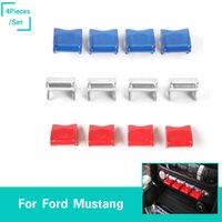Wholesale mustangs accessories - Car Navigation Decoration Button Covers Central Control ABS For Ford Mustang Auto Styling Interior Accessories