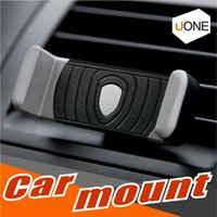 Wholesale black grips - Universal Protable Car Air Vent Mount Mount adjust Phone holder 360 Degree Rotate phone Grip Safer Driving For iphone X 8 Samsung Cellphone