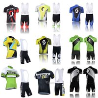 Wholesale scott cycling bib sets - Crossrider SCOTT cycling jerseys Bisiklet team sport suit bike maillot ropa ciclismo cycling clothing Bicycle MTB bicicleta clothes bib set