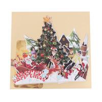 ingrosso biglietti augurali di anniversario fatti a mano-Nuovo arrivo Handmade 3D Pop Up Greeting Holiday Cards Buon Natale Party Anniversary Gift AUG29