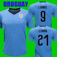 Wholesale uruguay soccer - Top thailand quality SUAREZ CAVANI GODIN 2018 URUGUAY SOCCER JERSEYs World cup 2018 football kit soccer shirts camisetas de futebol