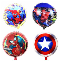 Wholesale Wholesale Heart Foil Balloon - Aluminum Happy Spiderman Heart Shape Balloon for Wedding Birthday Party Supplies Decoration Cartoons Foil Balloon Manufacturer