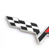 Wholesale metal formula - FR Racing Flag Metal Truck Window Car stickers emblem badge for Seat leon FR+ Cupra Ibiza Altea Exeo Formula Racing Car Styling