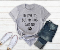Skuggnas I'd love to but my dog said no I just want all the dogs t shirt funny dog T shirt Gift For Lover Unisex Tops