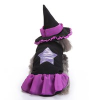Wholesale female cosplay characters online - Halloween Cosplay Pumpkin Pet Clothes Spider Unicorn Pumpkin Witch Bat Dress Pet Dog Witch Clothes Halloween Christmas Dress