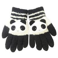 Wholesale Panda Gloves - Women Winter Sweet Panda Design Touchscreen Gloves Black White