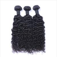 doğal renk brezilya kıvırcık saç toptan satış-Brezilyalı Bakire Saç Perulu İnsan Saç Dokuma Örgüleri Malezya Saç Demetleri Uzantıları doğal renk Için Jerry kıvırcık Düz Hint