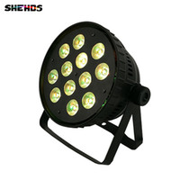 Wholesale led aluminum channel shipping - 4pcs lot Fast Shipping Aluminum alloy LED Par12x15W RGBWA Light Wash Light For Event,Disco Party Nightclub,SHEHDS Stage Lighting