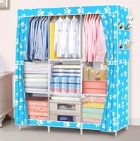 Wholesale storage cabinets home for sale - Group buy Hot Home Storage Organization Storage Holders Racks Wardrobe DIY Non woven fold Portable Storage Cabinet