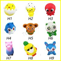 Wholesale cute chicken toys online - New Squishy Toy frog cake Animal chicken tiger cat squishies Slow Rising cm cm cm cm Soft Squeeze Cute gift Stress children toys