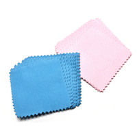 panos de limpeza para prata venda por atacado-8cm x 8cm Jewelry Silver Polishing Cloth Suede Flannel Fabric Cloth Flannelette Jewelry Cleaning Cloth Flannels