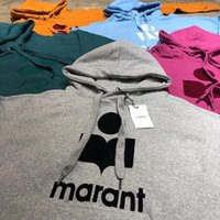 cardigans sweater para mulheres venda por atacado-18FW Marant Pullover Camisolas Isabel Hoodies Cardigan Feminino Camisola Das Mulheres Logotipo de Luxo Casual Streetwear Hoodies de Algodão Tops HFLSWY213