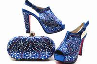 zapatos a juego conjuntos de bolsos al por mayor-Nuevos estilos de zapatos y bolsos para combinar con el conjunto de zapatos y bolsos de diseño nupcial de moda para damas