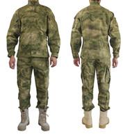 uniforme del ejército camo al por mayor-Uniforme militar al aire libre Camofluage Tactical Atacs A-Tacs FG Camo Durable Shirt Pants Army Combat Coat and Trousers