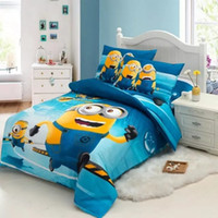 Wholesale queen size beds free shipping online - HOT Sale cotton Single Bedding Sets for Kids Free drop Shipping D cartoon Bedding set Christmas Gift kids Australia Size