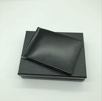en iyi erkek deri cüzdanlar toptan satış-Best Seller erkek Deri Lüks M B Kart Durumda Billfold Klip Siyah Kısa Kredi Kartı Tutucu MT Cep Yüksek Kalite Cüzdan