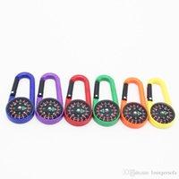 bússola multifunções venda por atacado-Colorido Mini Plastic Carabiner Portátil Multi Função Bússola Líquida Para Acampamento Ao Ar Livre Caminhadas Montanhismo Fivela Venda Quente 1hr ii