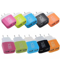 Wholesale Candy Wall - candy Dual USB wall US plug 2.1A AC Power Adapter Wall Charger Plug 2 port for samsung galaxy s8