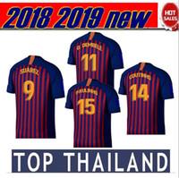 Wholesale new arrival shorts - 18 19 football shirt 2018 2019 soccer jerseys Paulinho O.Dembele Camisa de futebol new arrival 18 19 INIESTA O.DEMBELE maillot de foot
