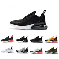 Wholesale photos lace - 270 Photo Blue Running shoes Navy Teal Mens Flair Triple Black AH8050 Trainer Sports Shoe Medium Olive Bruce Lee Womens 270s Sneakers 36-45