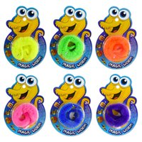 Wholesale funny magic tricks - 22cm Magic Worm Wiggler Wriggly Twirly Fuzzle Funny Toys Trick Twisty Fuzzy Worm Kids Card Package NNA426