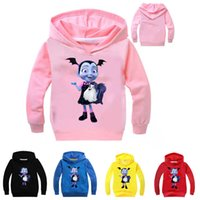 Discount kids clothes hoodies - Vampirina Kids Hoodies Sweatshirts 5 colors 2~10 years old Kids Vampirina Printed Cartoon Pullover Long sleeved Hoodies Kids Clothing LA870