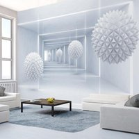 Wholesale Paper Sphere - Custom Photo Wall Paper 3D Stereo Abstract Space Sphere Mural Wallpaper Living Room Bedroom Background Walls Papel De Parede 3D