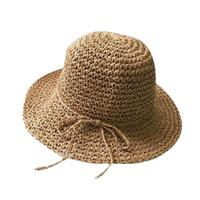 due pezzi fatti a mano cappello di paglia donne estate cappello bambini  panama cappello Fascinator d epoca per la ragazza e6ebab2e90b7