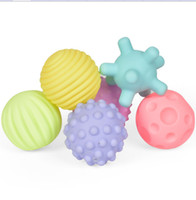 Wholesale plastic training balls for sale - Group buy 6pcs set Baby Toy Ball Set Develop Baby s Tactile Senses Baby Touch Hand Ball Training Massage Ball