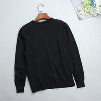 suéter de punto perlas al por mayor-Mujeres Harajuku Jerseys Tops de punto Navidad Otoño Invierno Runway Designer Hoodies Letter Pearl Beading Knitted Black Tops Pullover