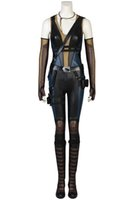 Wholesale female deadpool costume online - New movie Deadpool domino Cosplay Costume Hallowmas high quality full Suit