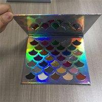 maquiagem de olhos mágicos venda por atacado-Cleof Cosméticos Sombra de Olho 32 Cores Glitter Shimmer Luminosa Destaque Maquiagem Estágio Pacote A Laser Longa-duração Magia